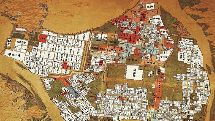 画像:古地図を片手に、まちを歩こう。 期間限定の特別企画!